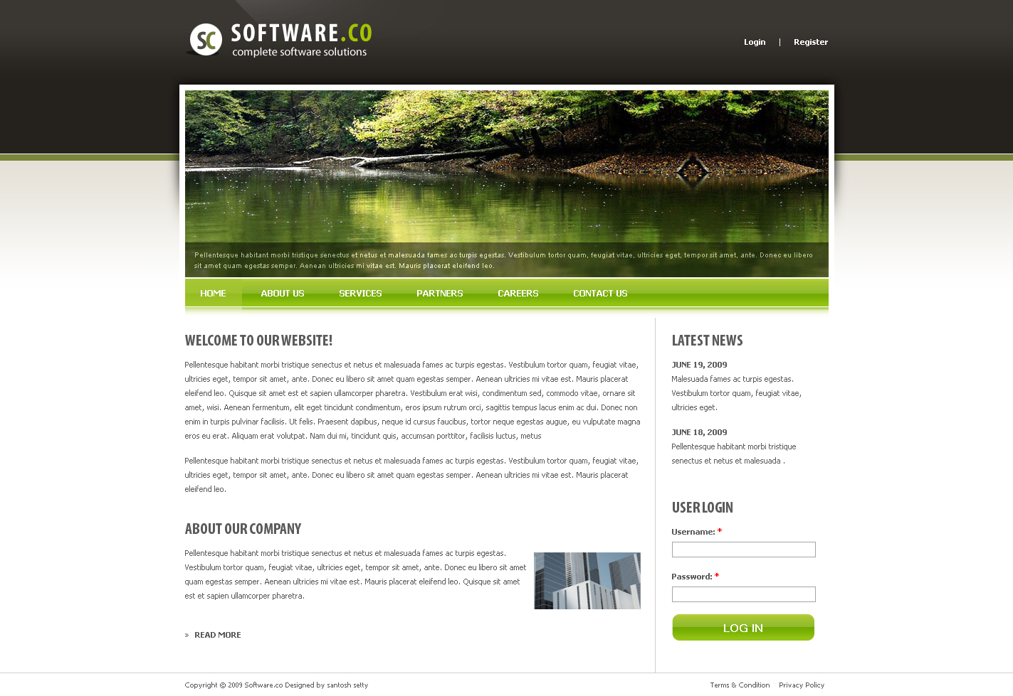 Software co drupal template by settysantu themeforest for Drupal 404 template