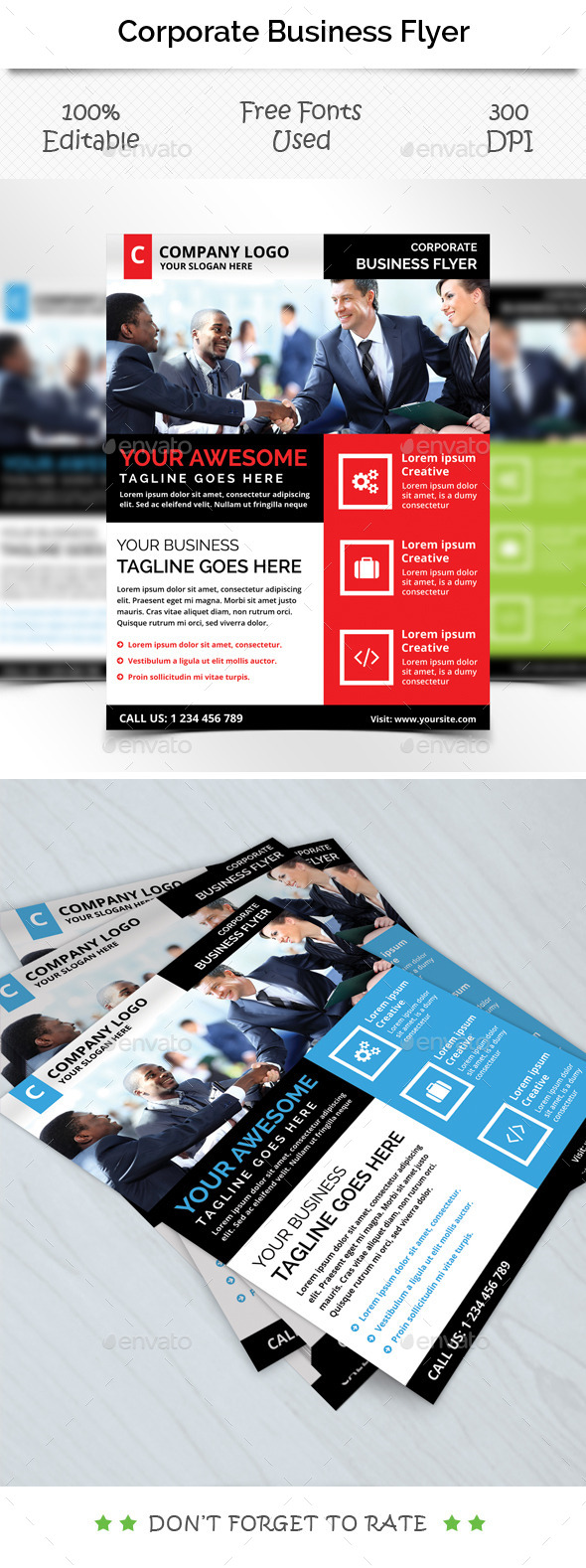 Corporate Flyer Template V 3 - Corporate Brochures