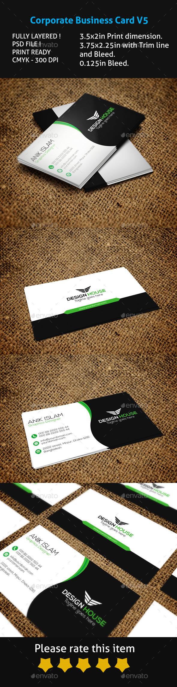 Corporate Business Card V5 - Corporate Business Cards