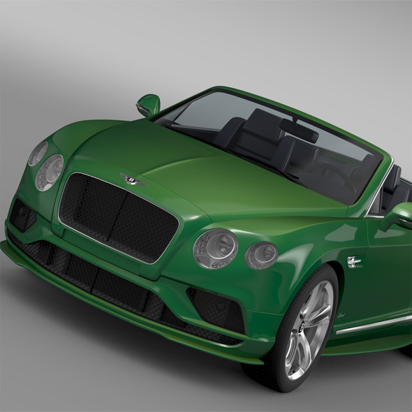 Bentley Continental GT Speed Convertible 2015 - 3DOcean Item for Sale