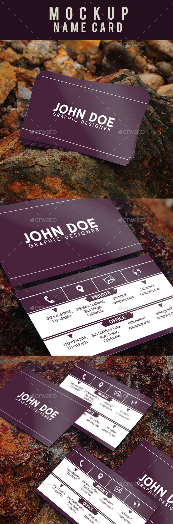 Mockup Name Card - Business Cards Print