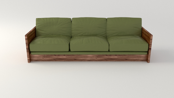 Olive Sofa - 3DOcean Item for Sale