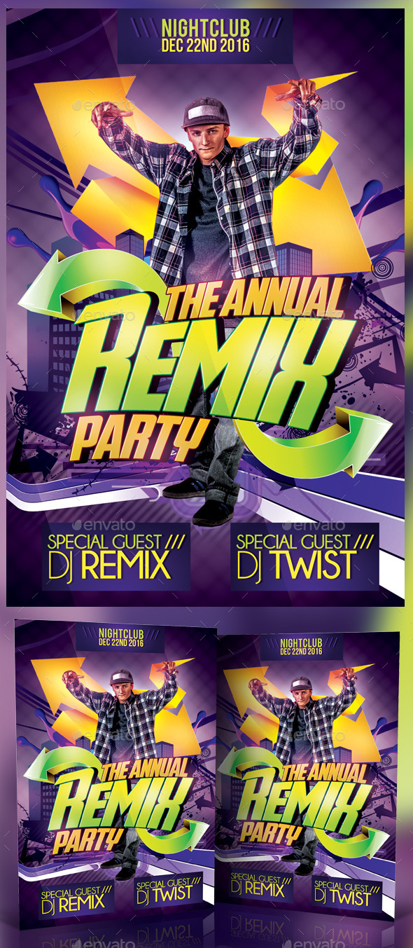 Remix Party Flyer - Clubs & Parties Events