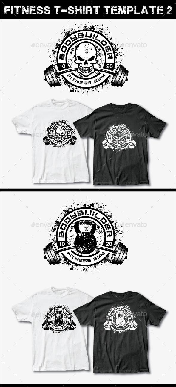 Fitness T-Shirt Template 2 - Grunge Designs