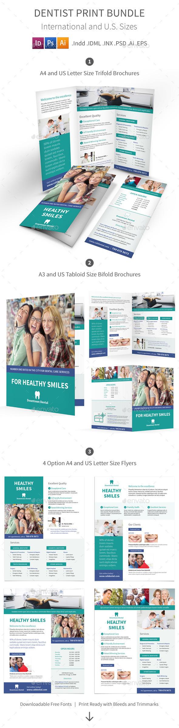 Dentist Print Bundle - Informational Brochures