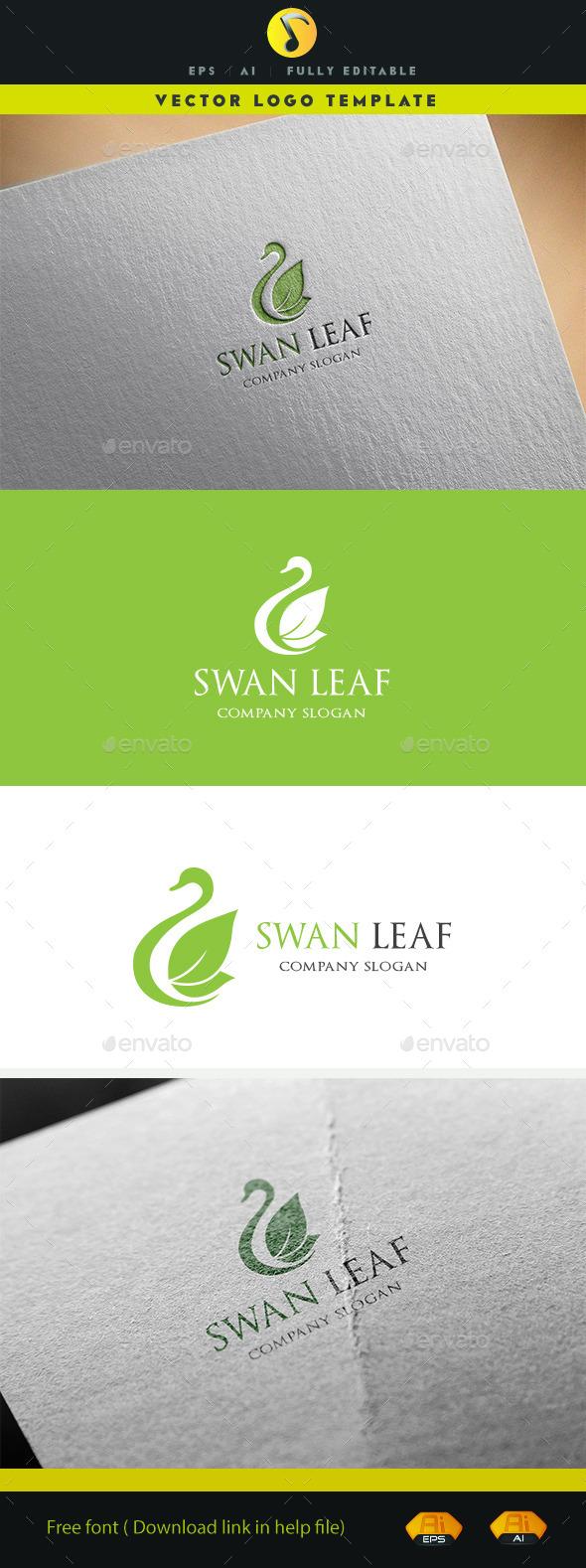 Swan Leaf - Animals Logo Templates