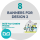 Flat Concept Banners for Design 2 - GraphicRiver Item for Sale