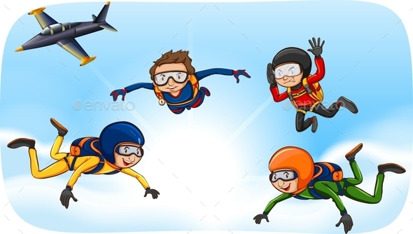 Skydiving - People Characters