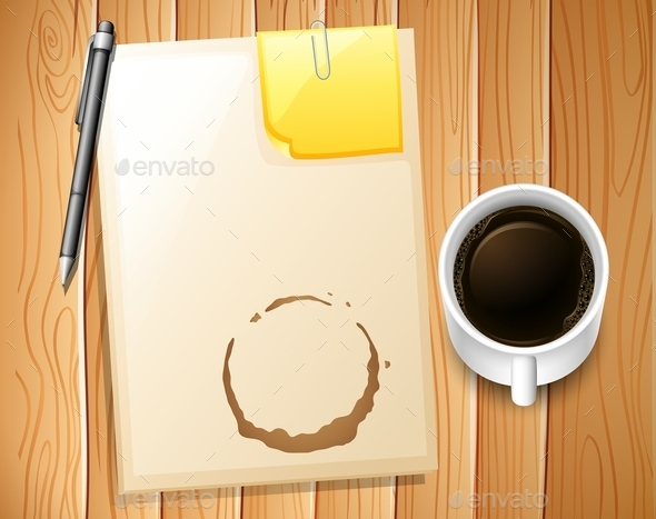 File and Coffee - Backgrounds Business