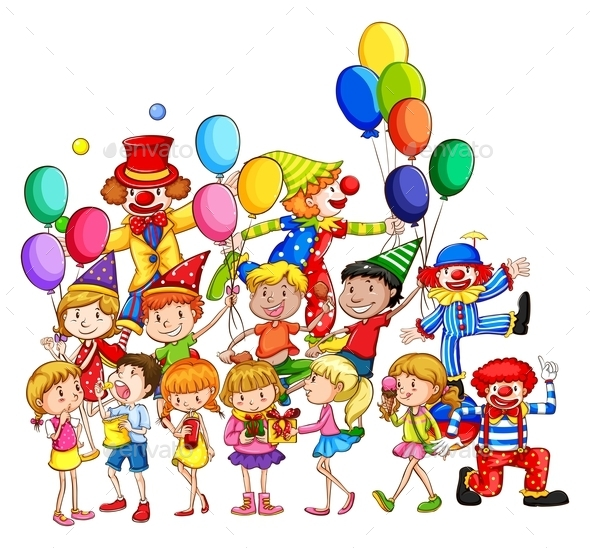 Children and Party - People Characters