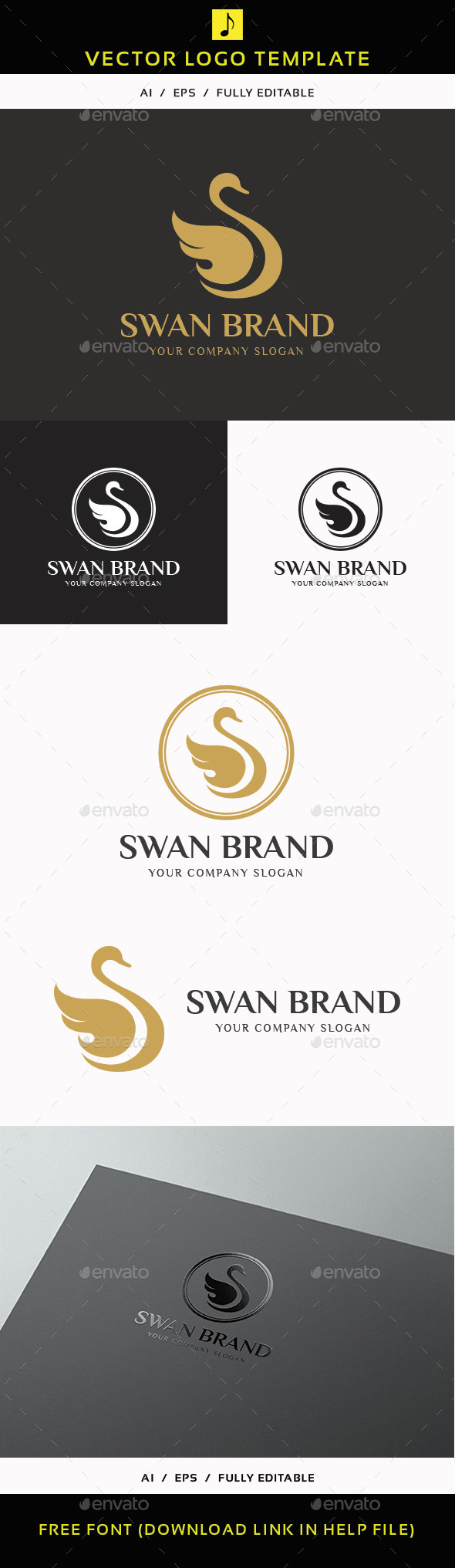 Swan Brand - Animals Logo Templates