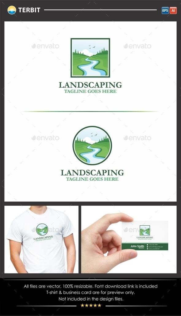 Landscaping Gardening Logo - Nature Logo Templates