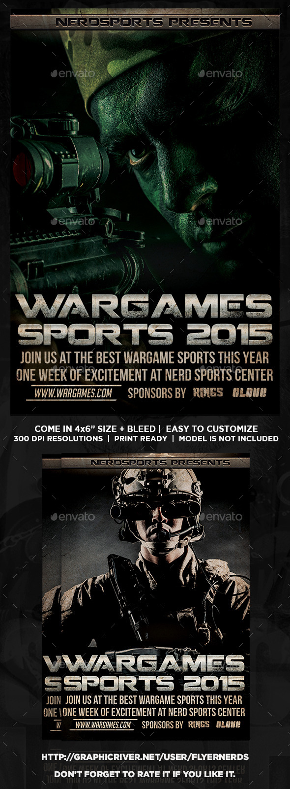 Wargame 2015 Sports Flyer - Sports Events
