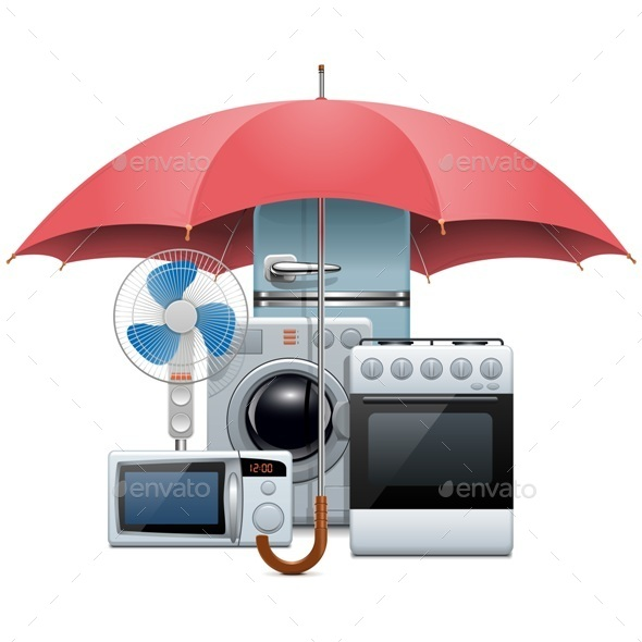 Vector Household Appliances Protection - Concepts Business
