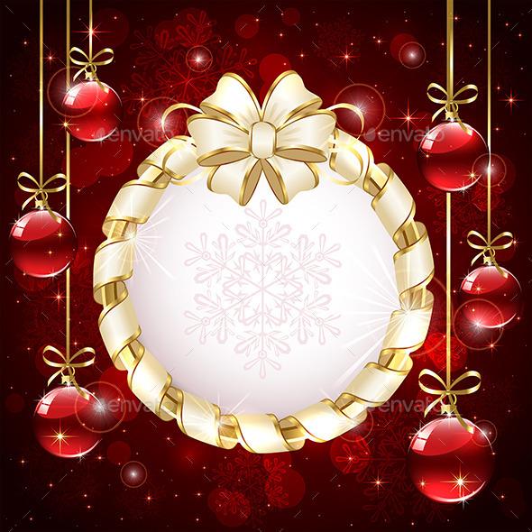 Christmas Card with Baubles - Christmas Seasons/Holidays