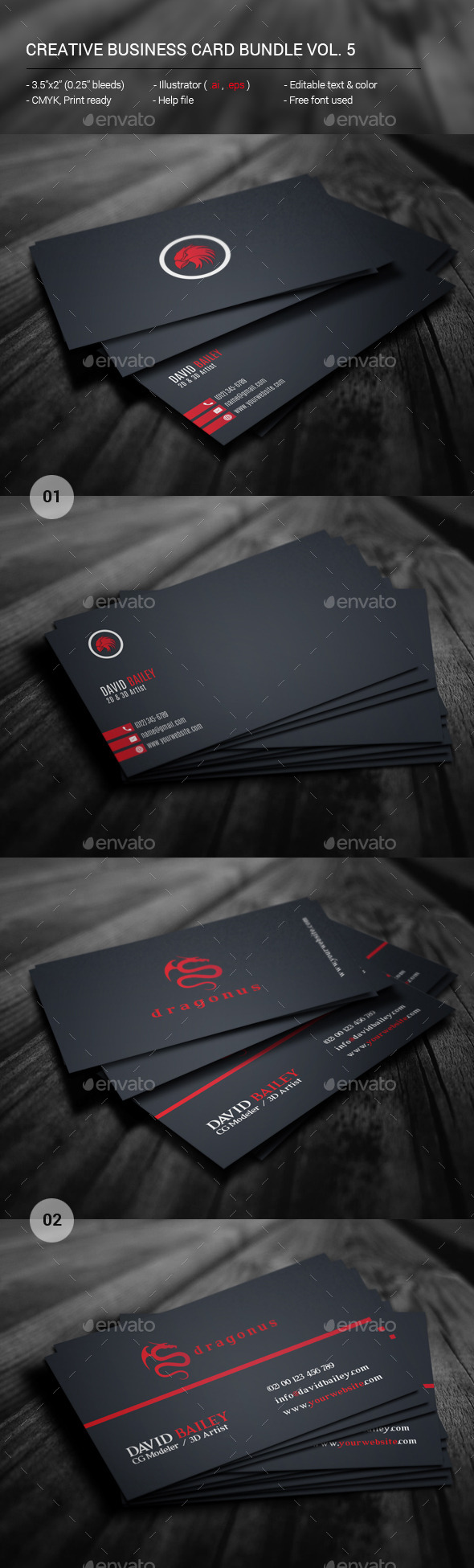 Creative Business Card Bundle Vol. 5 - Creative Business Cards