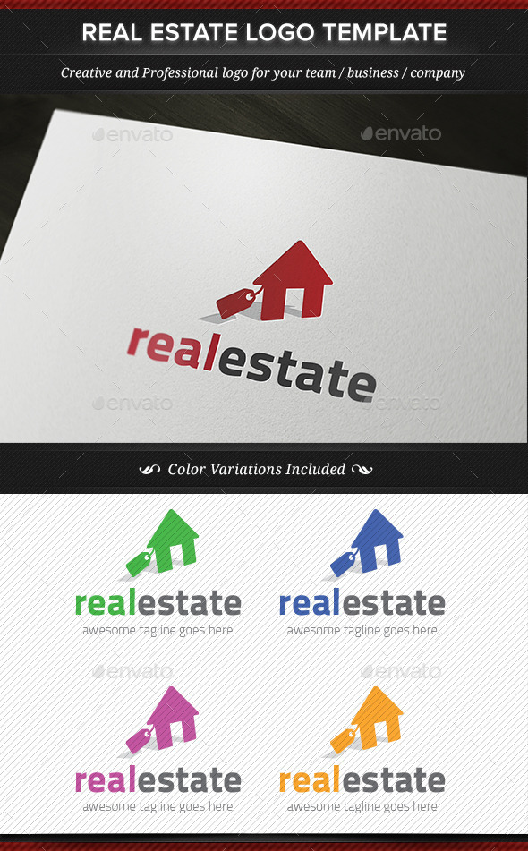 Real Estate Logo Template - Objects Logo Templates