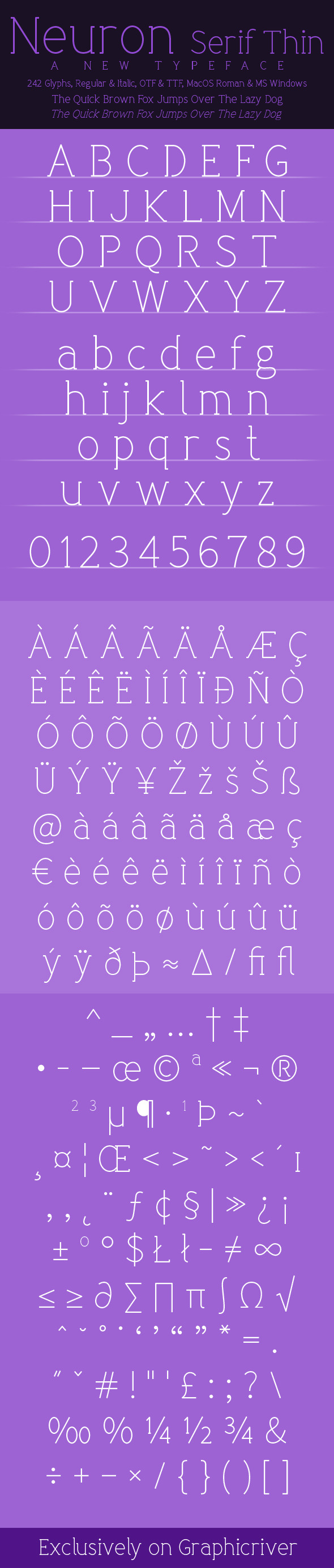 Neuron Serif Thin - Serif Fonts