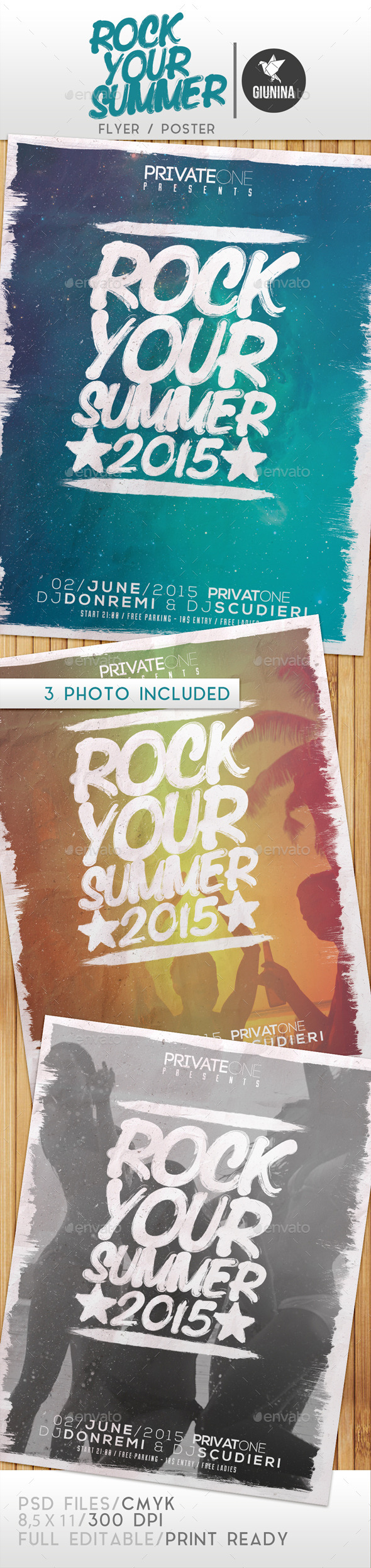 Rock Your Summer  Flyer/Poster - Events Flyers