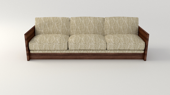 Plant Pattern Couch - 3DOcean Item for Sale