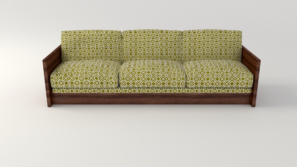Retro Oliver Sofa - 3DOcean Item for Sale