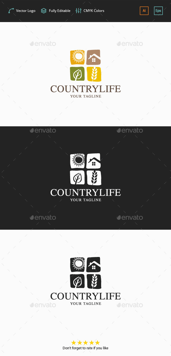 Country Life Logo - Symbols Logo Templates