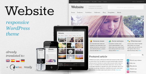 Website – Responsive WordPress Theme