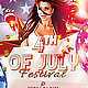 4th Of  July Festival Flyer PSD - GraphicRiver Item for Sale
