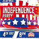 Independence Day Party Flyer PSD - GraphicRiver Item for Sale