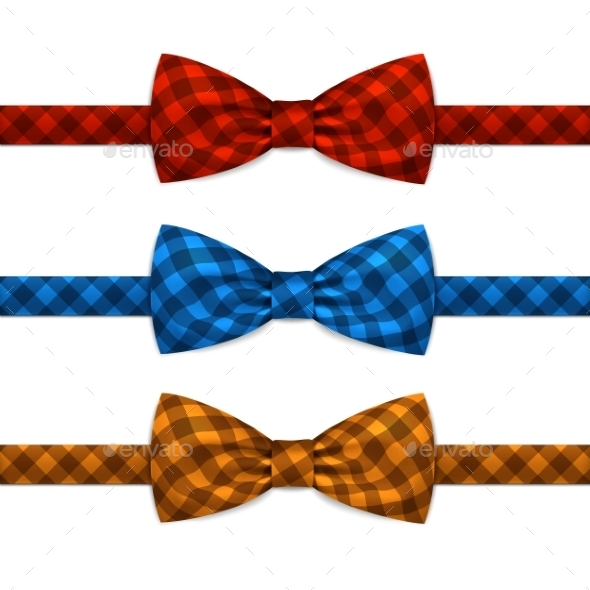 Bowtie Set Isolated on White - Miscellaneous Vectors