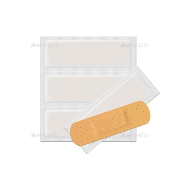 Vector Bandage Plaster Aid Band Medical Adhesive - Miscellaneous Vectors