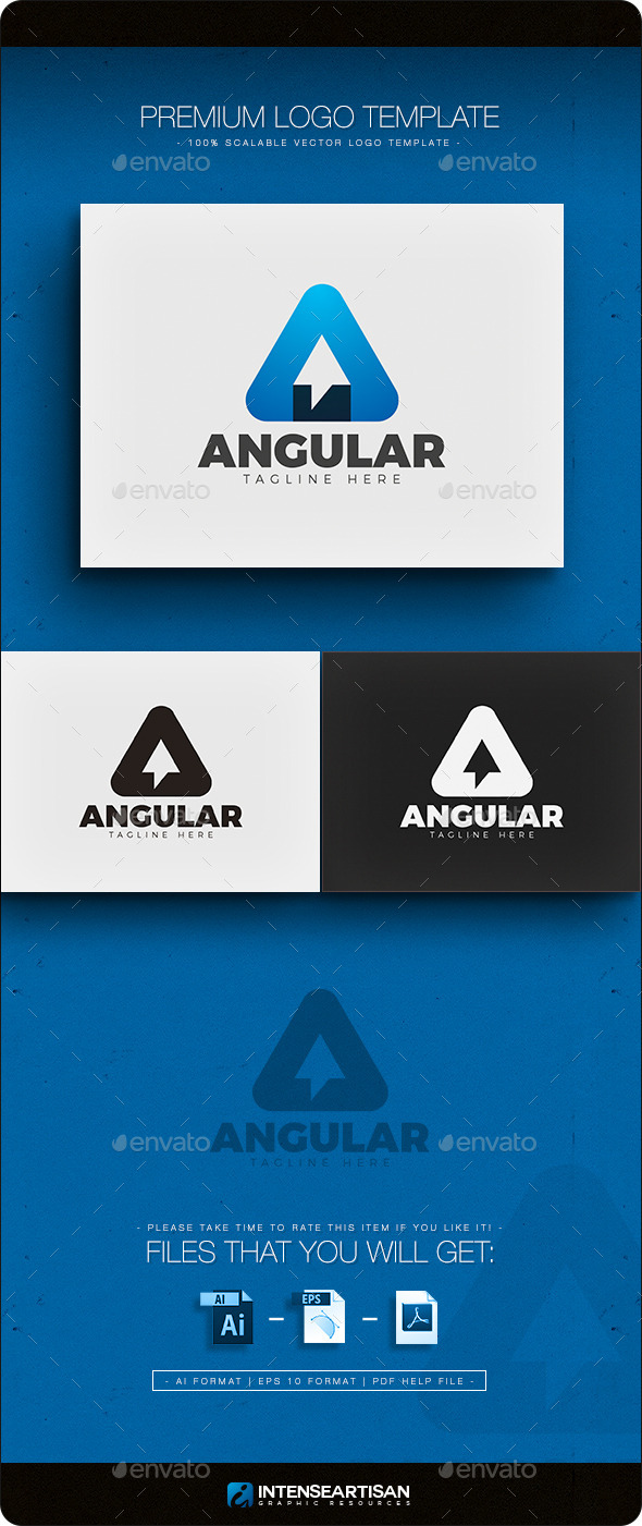 Angular - Letter A Logo - Letters Logo Templates