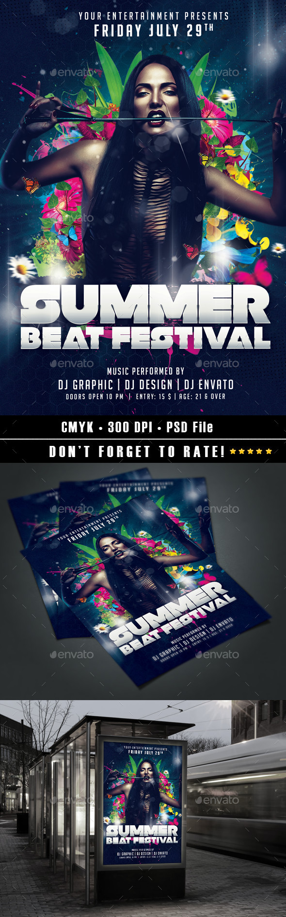 Summer Beat Festival - Events Flyers