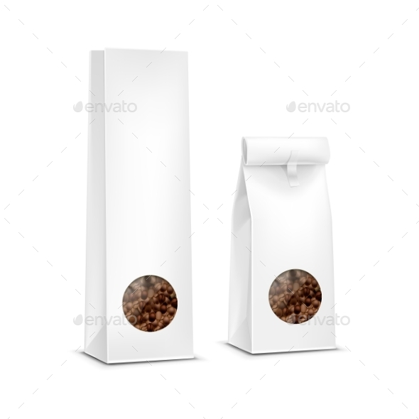 Coffee Package Bag Isolated - Food Objects