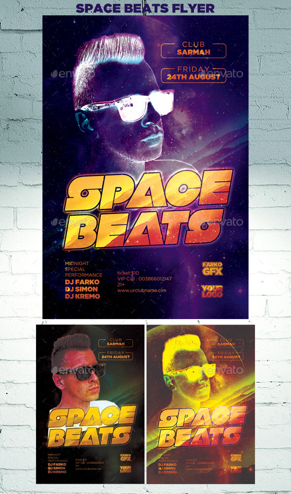 Space Beats Flyer - Clubs & Parties Events