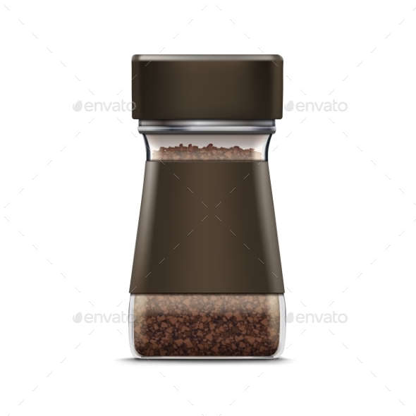 Vector Coffee Glass Jar Packaging Package Isolated - Miscellaneous Vectors