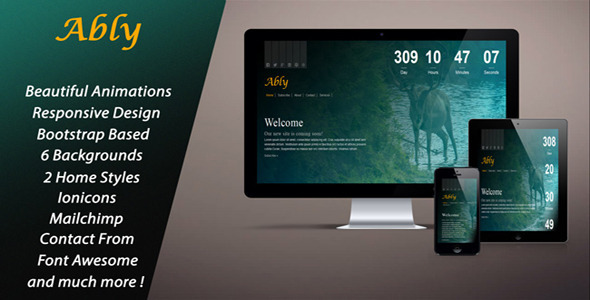 Ably – Responsive Coming Soon Page