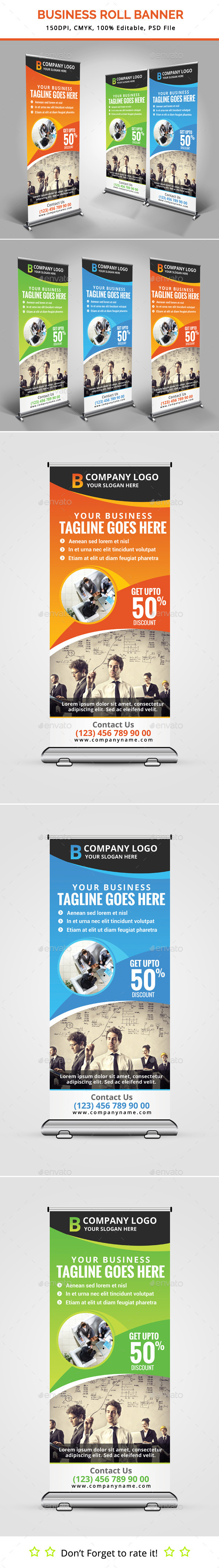 Business Roll Up Banner V12 - Signage Print Templates