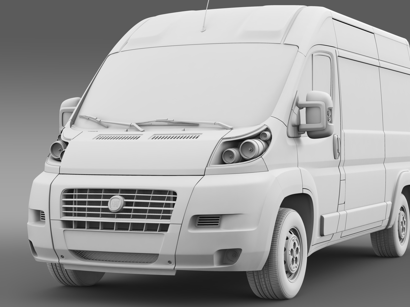 fiat ducato van l2h2 2006 2014 by creator 3d 3docean. Black Bedroom Furniture Sets. Home Design Ideas