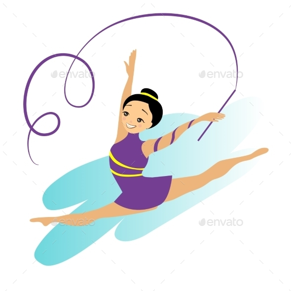 Sports Women Art Gymnastics Workout Exercise - People Characters