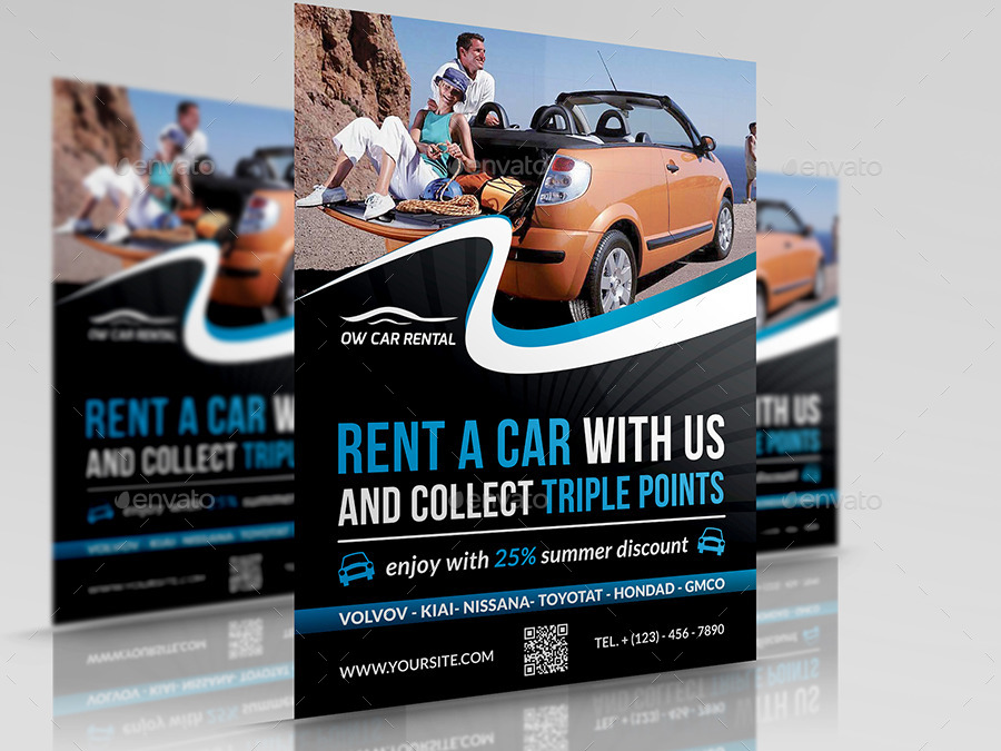 Rent A Car Flyer Template By Owpictures Graphicriver