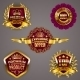 Golden Badges - GraphicRiver Item for Sale