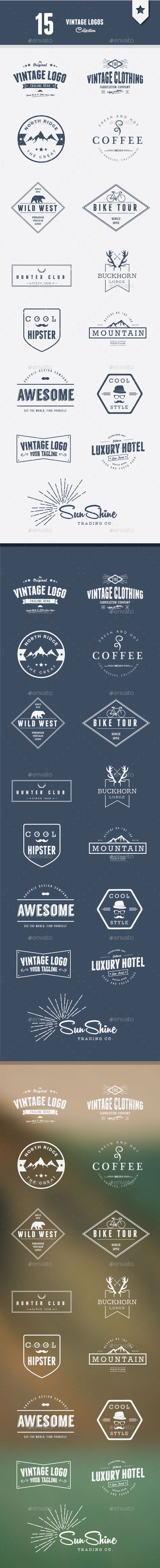 Vintage Logos Collection - Badges & Stickers Web Elements