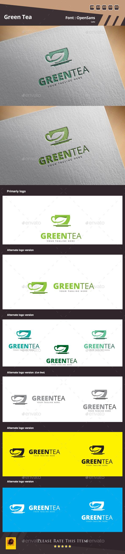 Green Tea Logo Template - Food Logo Templates