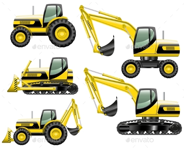 Construction Machines - Man-made Objects Objects