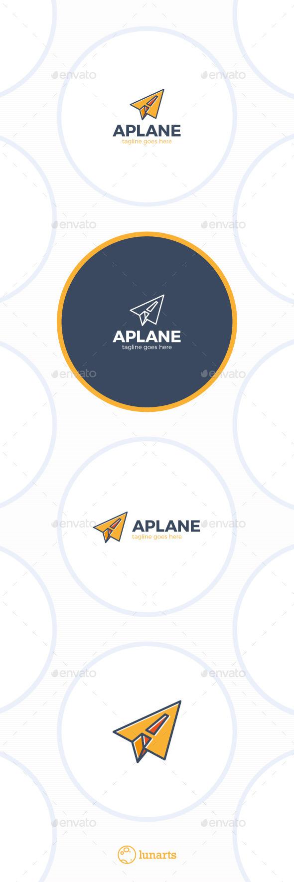 Paper Plane Logo - Letter A - Letters Logo Templates