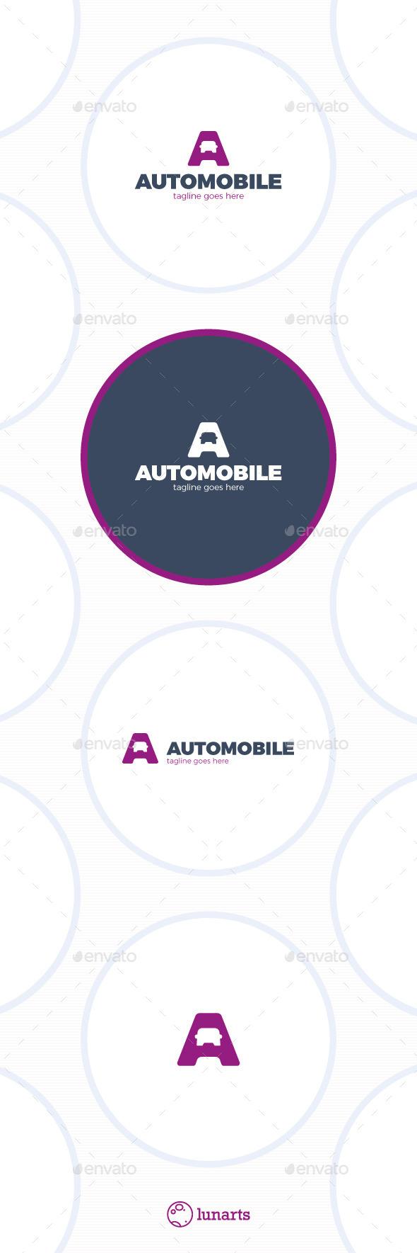 Letter A Logo - Auto - Car - Letters Logo Templates