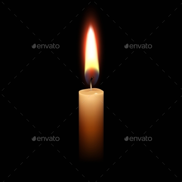 Candle Flame Fire Light Isolated Background - Miscellaneous Vectors