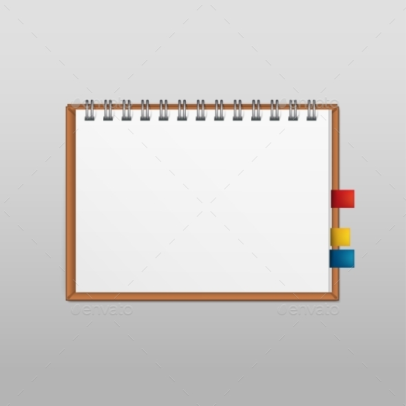 Vector White Blank Paper Note Notebook Page - Miscellaneous Vectors