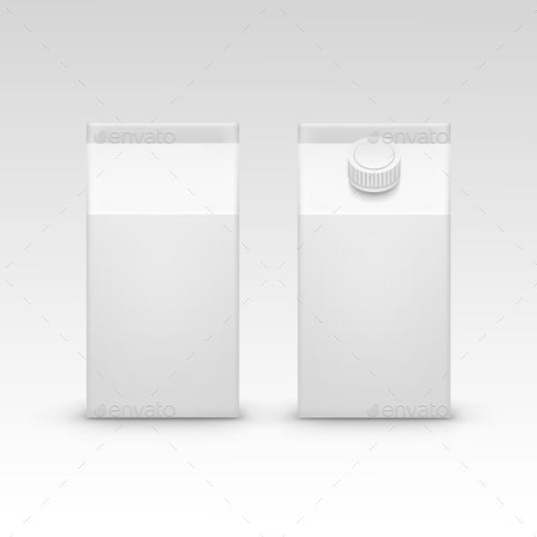 Milk Juice Carton Packaging Package Box White - Miscellaneous Vectors